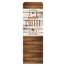 Barn Wood Coffee Banner