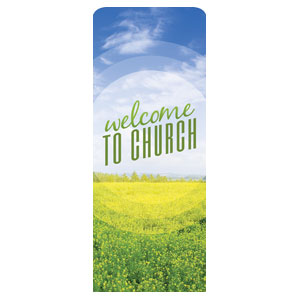 "Season Welcome Field 2'7"" x 6'7"" Sleeve Banners"