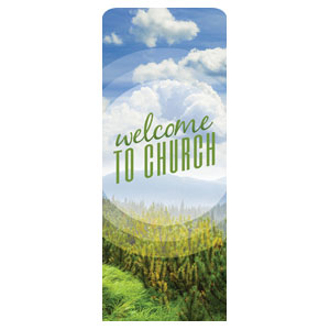 Season Welcome Pine Banners