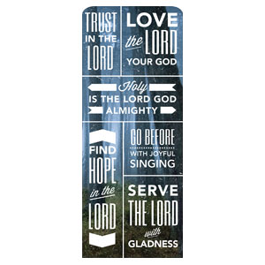 "Phrases Praise R 2'7"" x 6'7"" Sleeve Banners"