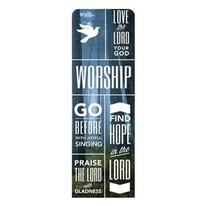 Phrases Worship 2 x 6 Sleeve Banner