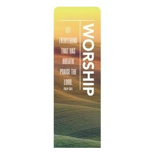 Phrases Worship Vertical Banners