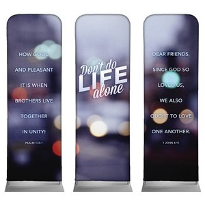 Life Alone  2 x 6 Sleeve Banner