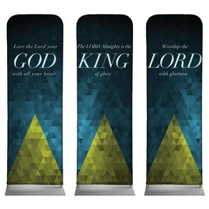 Majesty Triptych - 2 sided  2 x 6 Sleeve Banner