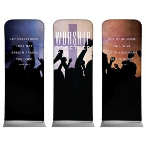 "Worship Loud Triptych 2'7"" x 6'7"" Sleeve Banners"