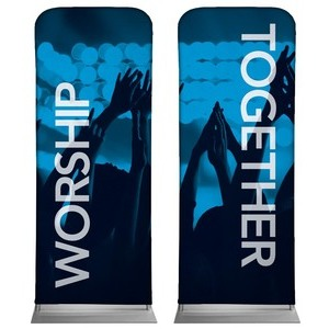 "Worship Together Pair  2'7"" x 6'7"" Sleeve Banners"
