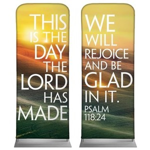 "We Will Rejoice  2'7"" x 6'7"" Sleeve Banners"
