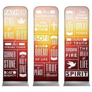 Phrases Trinity Triptych - 2 sided 2 x 6 Sleeve Banner
