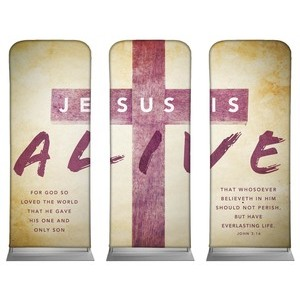 "Alive Triptych  2'7"" x 6'7"" Sleeve Banners"