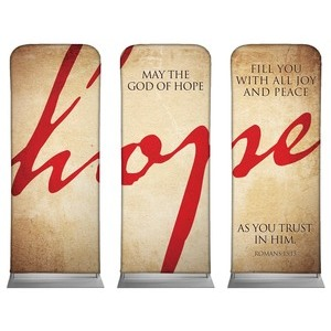"Hope Triptych  2'7"" x 6'7"" Sleeve Banners"