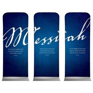 "Messiah Triptych 2'7"" x 6'7"" Sleeve Banners"
