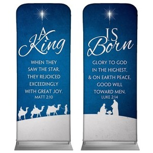 "Christmas Blue 2'7"" x 6'7"" Sleeve Banners"