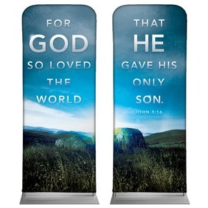 For God So Loved Pair Banners