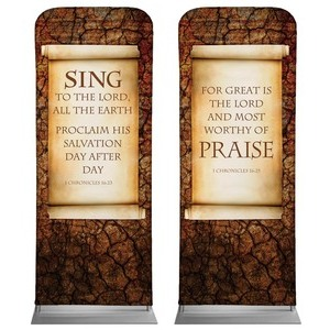 "Sing And Praise  2'7"" x 6'7"" Sleeve Banners"