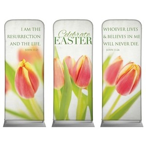 Tulips Triptych Banners
