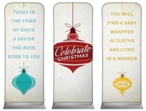 "Retro Ornaments 2'7"" x 6'7"" Sleeve Banners"