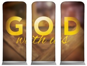 "God With Us Manger Triptych 2'7"" x 6'7"" Sleeve Banners"