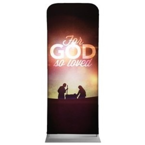 "For God So Loved Nativity 2'7"" x 6'7"" Sleeve Banners"