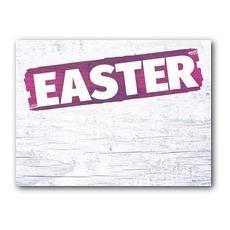 White Wood Easter Banner
