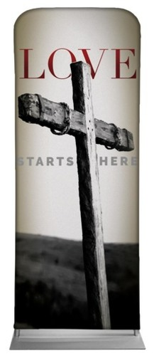 Banners, Easter, Love Starts Here, 2'7 x 6'7