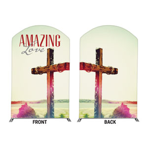 Amazing Love Cross 5' x 8' Curved Top Sleeve