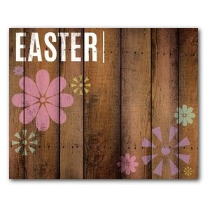 Easter Wood and Flowers Banners