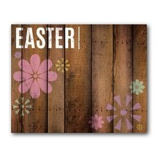 Easter Wood and Flowers Banner