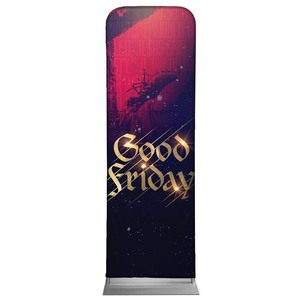 Good Friday Red Crucifixion Banners