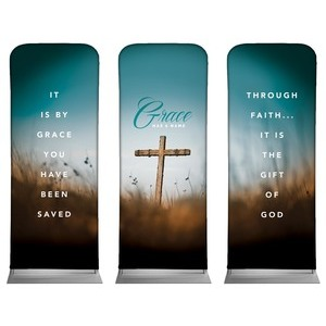 "Grace Has A Name 2'7"" x 6'7"" Sleeve Banners"