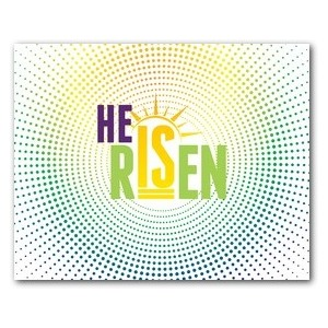 He Is Risen Dots Jumbo Banners