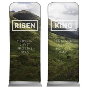 Risen King Hillside Pair Banners