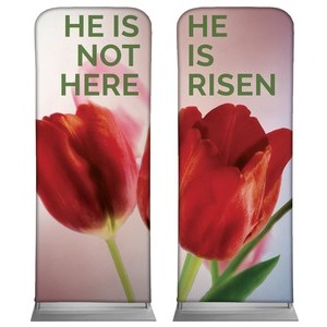 "Risen Tulips Pair 2'7"" x 6'7"" Sleeve Banners"