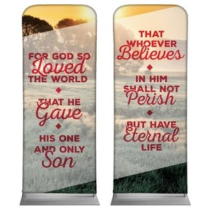 Whoever Believes Pair Banners