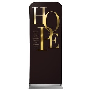 "Gold Letters Hope 2'7"" x 6'7"" Sleeve Banners"