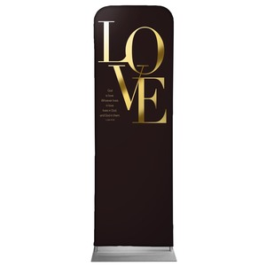 Gold Letters Love 2 x 6 Sleeve Banner