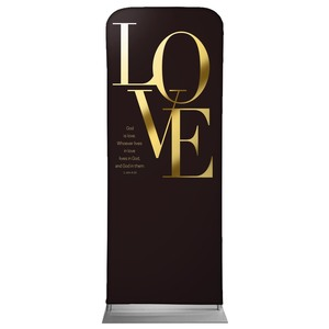 "Gold Letters Love 2'7"" x 6'7"" Sleeve Banners"