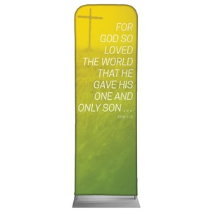 Color Wash John 3:16 2 x 6 Sleeve Banner