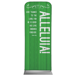 "Painted Wood Alleluia 2'7"" x 6'7"" Sleeve Banners"