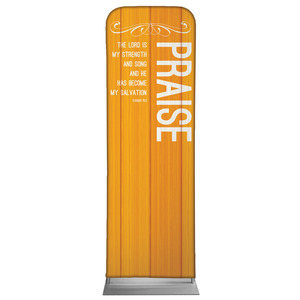 Painted Wood Praise 2 x 6 Sleeve Banner