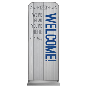 "Painted Wood Welcome 2'7"" x 6'7"" Sleeve Banners"
