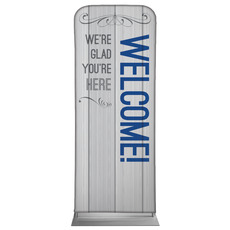 Painted Wood Welcome Banner