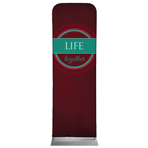 Together Circles Life 2 x 6 Sleeve Banner