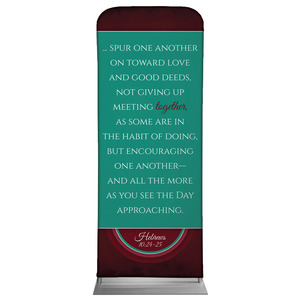 "Together Circles Heb 10 2'7"" x 6'7"" Sleeve Banners"