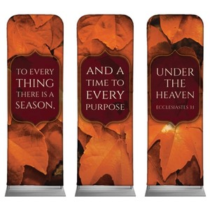 Ecc 3:1 Leaves 2 x 6 Sleeve Banner