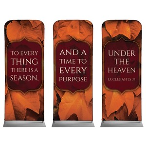 "Ecc 3:1 Leaves 2'7"" x 6'7"" Sleeve Banners"