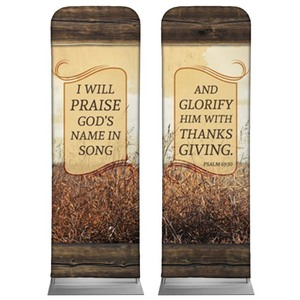 Psalm 69:30 Wheat Banners