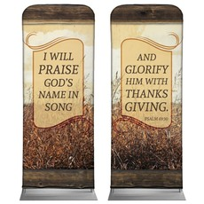 Psalm 69:30 Wheat Banner