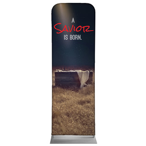 Savior Born 2 x 6 Sleeve Banner