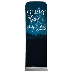 Glory to God Blue 2 x 6 Sleeve Banner