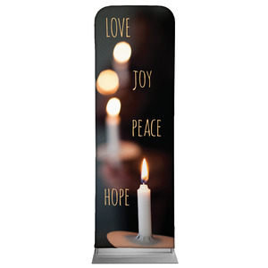 Candle Advent Words 2 x 6 Sleeve Banner